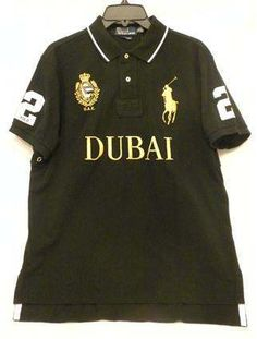 Men's Black POLO RALPH LAUREN Large Pony Size L Custom Fit Short Sleeve Rugby Shirt NWT
