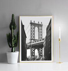 Poster with photo art Manhattan...