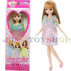 TAKARA TOMY LICCA DOLL 9 INCH 23cm DOLL WITH LIGHT PINK DRESS