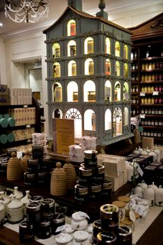 Fortnum & Mason honey display