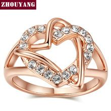 Top Quality ZYR324 Fashion Design Engagement 18K White Gold Plated  Wedding Ring  Austrian Crystals Full Sizes Wholesale(China (Mainland))