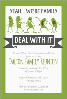 FamilyReunionInvitations  Family Reunion Party Invitations