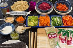 Real food Sushi... homemade and fun. Using fresh and flexible ingredients, homemade sushi is more affordable and more nutritious, plus the whole family can get involved! |  GNOWFGLINS.com