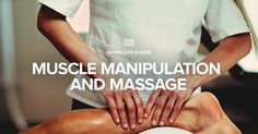 Muscle Manipulation and Massage - There may be many reasons for you to seek a massage. Perhaps you need a little relaxation at the end of a hectic week or you have a knotted muscle. Whatever the reason, massage therapy is a great way to resolve a number of issues.