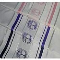 Tree of Life (Eitz Chaim) Tallit Set in Navy and Silver Stripes