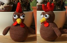 Chickens free crochet pattern in German and in English by  Speckerna
