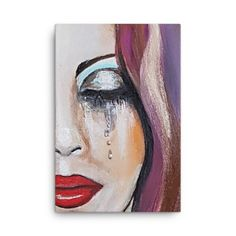 Tear Drops – Canvas (toxin free) by artist Deborah Kalavrezou exclusive to Stripy Dot.Inspired by an original called emotional also available on this site. Re-produced in the highest quality print finish. This would certainly bring athmosphere to any wall Pretty Pictures, Art Pictures, Painting & Drawing, Watercolour Painting, Beauty In Art, Print Finishes, Gcse Art, Cool Paintings, Art Techniques