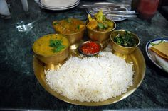 Dal Bhat, Nepali meal - never the same, always good!