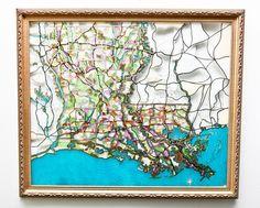 Louisiana Map  www.ellenmacomber.com