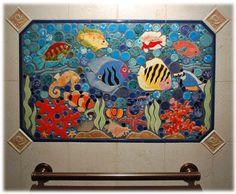 Fish Mosaic Designs   the tropical fish / reef fish ceramic tile mosaic design is a mosaic ...