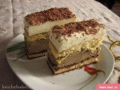 Ciasto kawowo-śmietankowe - Swiatciast.pl Polish Desserts, Polish Recipes, Diabetic Recipes, Cooking Recipes, Layered Desserts, Almond Cakes, Food Cakes, Dessert Bars, No Bake Cake
