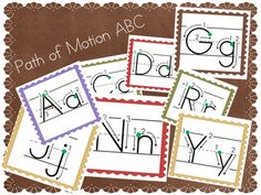 Letter formation for handwriting