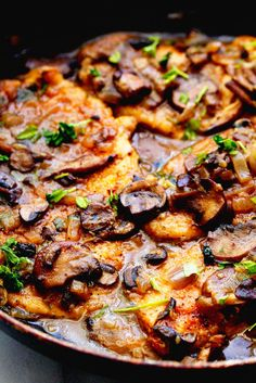 Skinny Chicken Marsala (or Healthy Chicken Marsala) | Grandbaby Cakes  **Sub out the flour for a nut flour.