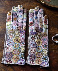 Sophie Digard / gants wool mariette minus (3858G-MR/NRBVG) T7 by Sophie Digard | petiteparis