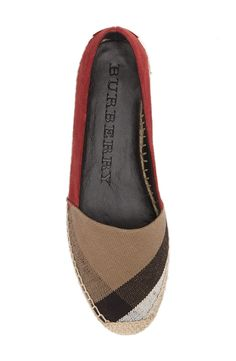 Absolutely adoring these Burberry espadrilles with the infamous check pattern.