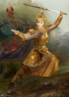 Legendary amazons = Jiumei ~ Yang Yanying, second daughter of She Saihua and Yang Ye.  Weapon: Qixing Sword.