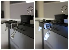 How to make a Kindle light from binder clips and LEDs