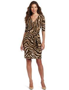 133432f14f Jones New York Women s Petite Half Sleeve Faux Wrap Dress