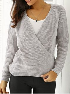 GET $50 NOW | Join RoseGal: Get YOUR $50 NOW!http://m.rosegal.com/sweaters/plunging-neck-loose-fitting-sweater-652699.html?seid=6873633rg652699