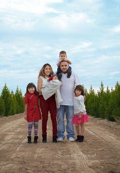Family of 6 photography, christmas