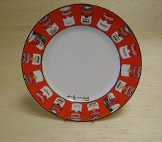 Andy Warhol Campbell Soup Dinner Plate by BizarreBazaare on Etsy, $20.00
