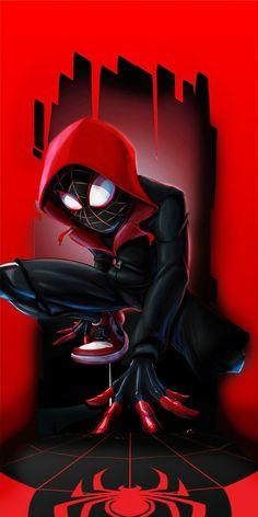 Marvel/ Spider-Man: Into the Spider-Verse Films Marvel, Marvel Art, Marvel Characters, Marvel Heroes, Black Spiderman, Spiderman Spider, Amazing Spiderman, Wallpaper Animé, Marvel Wallpaper