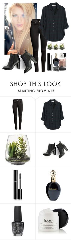 """Untitled #118"" by emelie-mely on Polyvore featuring H&M, Xirena, Threshold, SWEET MANGO, Chanel, Roberto Cavalli and OPI"