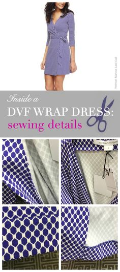 Sewing a wrap dress? Take a look inside this DVF dress.