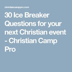 30 Icebreaker Questions for your next Christian event 30 Ice Breaker Questions for your next Christian event – Christian Camp Pro Fun Icebreaker Games, Fun Icebreakers, Youth Games, Games For Teens, Adult Games, Icebreaker Questions, Fun Games, Party Games, Youth Ice Breakers