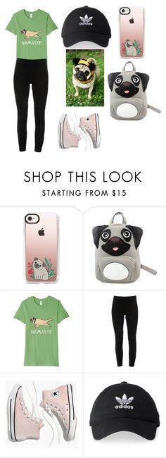 """""""Pug Life"""" by soph929 ❤ liked on Polyvore featuring Casetify, Sleepyville Critters, Elie Tahari, Madewell and adidas"""