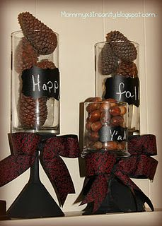 Cheap but cute fall decor project! Dollar Tree Decor, Dollar Tree Crafts, Happy Fall Y'all, Thanksgiving Decorations, Holiday Decorations, Decorating On A Budget, Interior Decorating, Tree Designs, Holiday Crafts