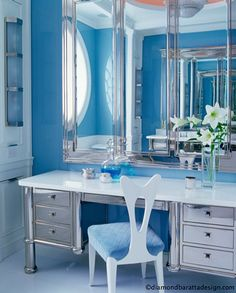 #diamond baratta design | More boudoir lusciousness at http://mylusciouslife.com/walk-in-wardrobes-closets-dressing-rooms-boudoirs/