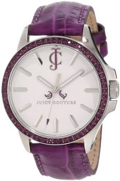 Juicy Couture Women's 1900971 Jetsetter Purple Leather Strap Watch♥✤ | Keep the Glamour | BeStayBeautiful