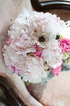 wedding bouquet anemone peony ブーケ アネモネ 芍薬