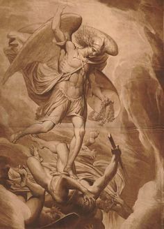 "James Barry (Irish; 1741–1806)The Fall of Satan. Etching, 1797 Lettered: ""The Royal Academy having in the Year 1773 Selected Six of their Members to Paint each a Picture for St. Paul's Cathedral, this Sketch of the fall of Satan being one of the designs executed for that purpose."" The British Museum, London; © The Trustees of the British Museum"