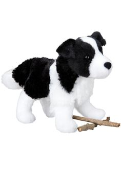 "8 in. Breed specific details and the softest materials make this dog distinctive and a great ""pick-up"" gift or toy.  Meadow Border Collie by Douglas. Home & Gifts - Gifts - Gifts by Occasion - Baby & Kids Oregon"