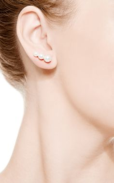 Trois Lune For The Right Ear by Sophie Bille Brahe for Preorder on Moda Operandi