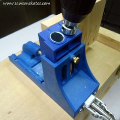 Pocket holes virtually disappear with a Pocket Hole Plug Cutter jig. The jig makes plugs from leftover project wood which conceals pocket holes. Kreg Tools, Woodworking Power Tools, Woodworking Techniques, Wood Plugs, Kreg Jig, Pocket Hole, Making Tools, Home Repair, Cool Tools