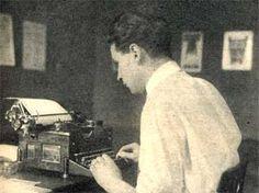 1928. Simenon, at his typewriter,   has just created Maigret.