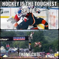 Haha sorry I really like hockey but that doesnt mean I cant have a little fun! Lol :)
