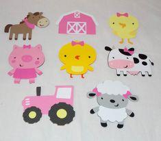 Medium Farm Die Cuts Girl Barnyard Cut Outs by APaperplaygroundDIY