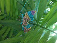 9 Tips for knitting – By Zazok Friendship Bracelets Designs, Bracelet Designs, Macrame Tutorial, Macrame Necklace, Plant Leaves, Insects, Butterfly, Knots, Head Bands