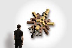 samuel accoceberry assembles LUXX mirrors into 3D structures - designboom | architecture