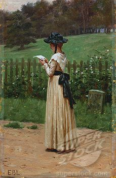The Love Letter-Edmund Blair Leighton (British, 1853-1922)