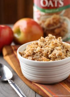 Baked Steel Cut Oatmeal with Apples and Cinnamon