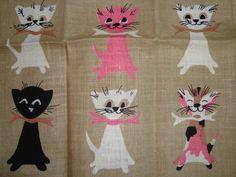 arling Vintage Towel Tammis Keefe 24 Kittens