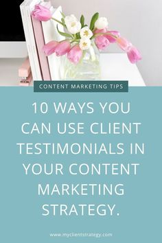 10 Ways you can use client testimonials in your content marketing strategy #clienttestimonials #contentstrategy #contentmarketing #socialproof Sales Strategy, Content Marketing Strategy, Small Business Marketing, Sales And Marketing, Marketing Plan, Online Marketing, Marketing Program, Digital Marketing, Creative Business