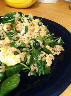 Simple egg n spinach stir fry recipe