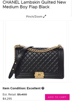 7e1c72fea624 Buy directly from the world's most awesome indie brands. Or open a free  online store. Chanel Boy Bag ...