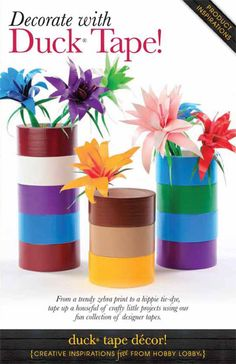 Who knew duct tape could be so fun? Try these crafty projects using our fun collection of designer tapes.